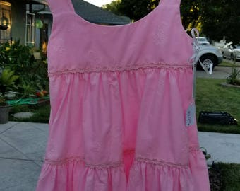 Pink Layered Sun Dress