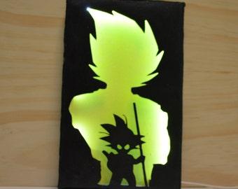 Goku wall lamp, Dragon ball, lighting, wall art, Goku, Dragon ball super, man cave, men gift, for him