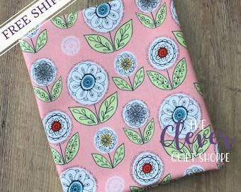 Quilting Fabric, Dutch Garden Pink, Betz White, Riley Blake Designs, Yardage