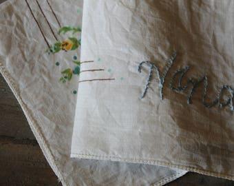 "Vintage Embroidered Hankie - ""Nana"""