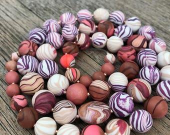 Polymer Clay Bead Set, Handmade Polymer Clay Beads, Polymer Beads for Jewelry Making, TaraCottaBeads, Spring Fashion Beads, Unicorn Beads