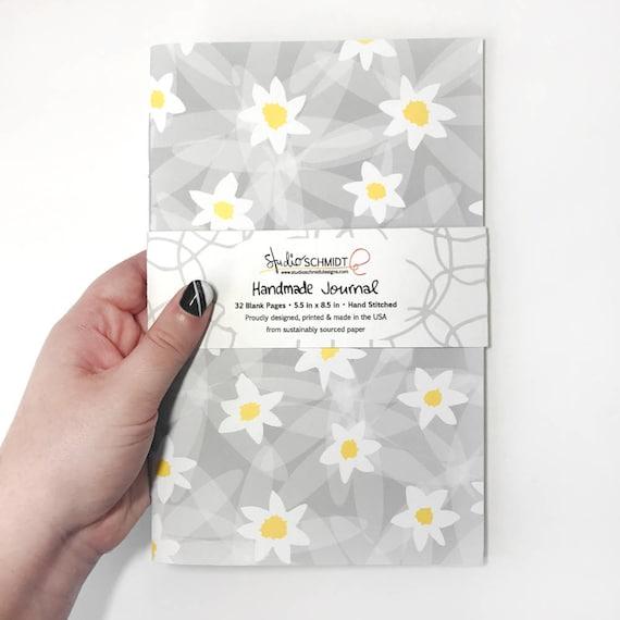 Journal Stocking Stuffer Floral Sketchbook Daisy Gift For