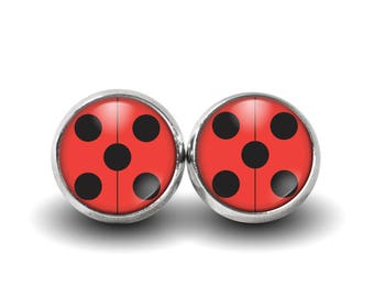 Miraculous Ladybug Earrings Etsy