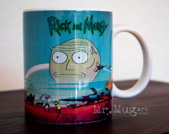 Rick and Morty, Rick and Morty Mug, Rick and Morty Art, Rick and Morty Coffee Mug, Rick Morty Mug, Rick and Morty Cup, Tea Cup, Funny Mug