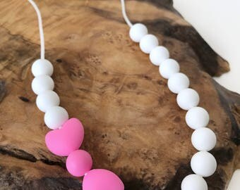Toddler Girls' Heart-Bow Chewable Necklace