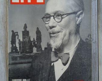 Vintage 1943, Life magazine, Vintage Cambridge, Cambridge Don, Vintage ads, Old magazines, Vintage gift, 1940s decor, Gifts for him, Ads