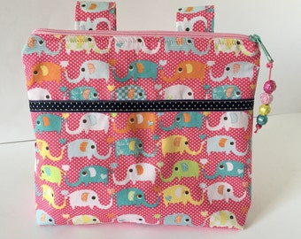 Children basket bike basket handlebar bag pink elephant gift