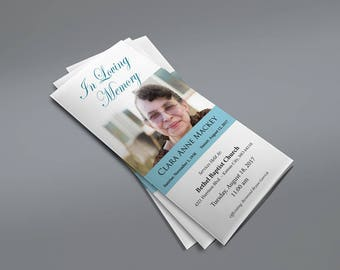 Trifold Funeral Program - Microsoft Word Template