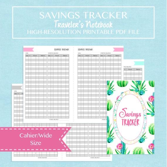 Crafty image within savings tracker printable