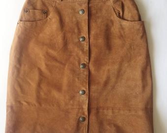 "Size 27"" Vintage suede skirt"