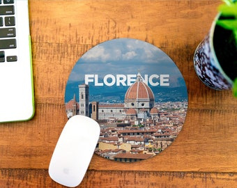 Mouse Pad - Mousepad - Florence Italy - Desk Accessories - Office Decor for Women - Office Desk Accessories