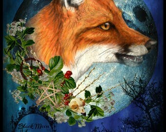 MR TODDE Fox Spirit Familiar Art Print