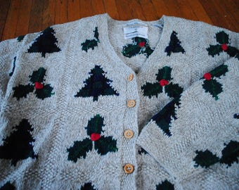 Christmas Button up Sweater