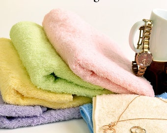 Custom Personalized Embroidered Hand and Bath Towels - Organic Cotton - Made in India