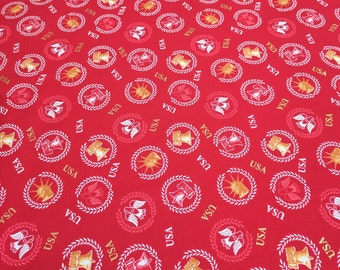 One Nation Red Cotton Fabric from P&B Textiles