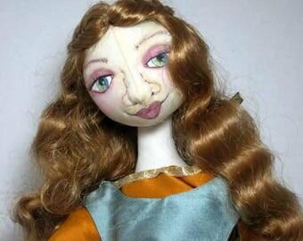 Female Fantasy Cloth Art Doll, Fantasy History Medieval Soft Sculpture, JDCreativeDolls