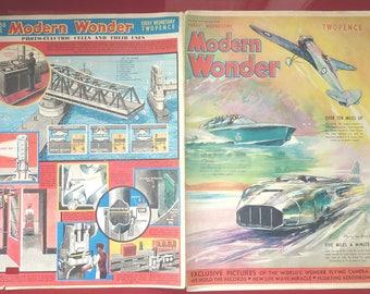 1938 MODERN WONDER MAGAZINE..Vintage English boys newspaper..George Eyston Malcolm Campbell..British Speed Record..Flying Camera..Science