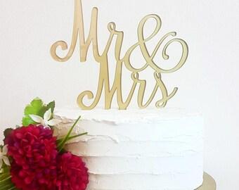 Mr & Mrs Cake Topper, wedding cake topper, Customized cake topper, Bridal Cake topper