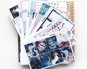 Starlight DELUXE Weekly Kit (stickers for Erin Condren Life Planner - Vertical)