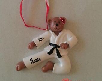 SALE! Karate Female Ornament, Personalized