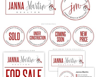 Realtor logo design, Real Estate, Broker brand, Key House logo, Branding Kit, Realty Logo design, Stamp realtor, Real Estate KW colors, 152