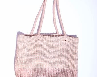 perfect vintage two tone woven handbag vintage purse vintage woven tote bag