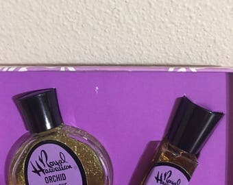 Vintage Royal Hawaiian Orchid Perfume set