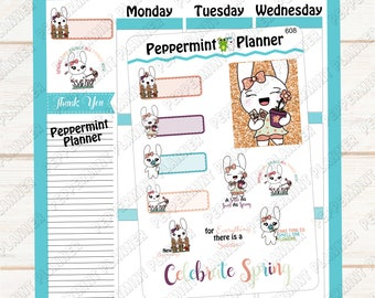 Spring Time Jelly Bean --- Planner Stickers --- Hand Drawn --- 608