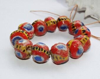 Kiffa beads, Kiffa beads, Republic of Mauritania, 12-14 mm
