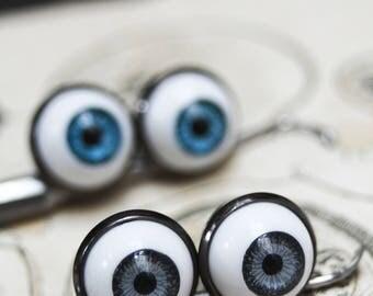 Eyeball pins, eye pins, doll parts, doll eyes, creepy cute, creepy doll, halloween accessories, halloween pins, cabinet of curiosity