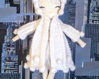 Paola White Ballerina Rag Doll, Handmade Doll, Girl Doll, Fabric Doll, Cloth Doll, Custom Doll