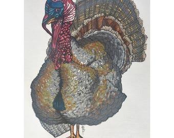 Smirky Turkey Print