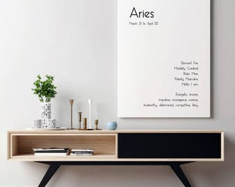 Aries Art Print Aries Print Art Aries Poster Aries Wall Art Aries Zodiac Art Aries Star Sign Art Aries Gift Art Zodiac Gift Astrology Print
