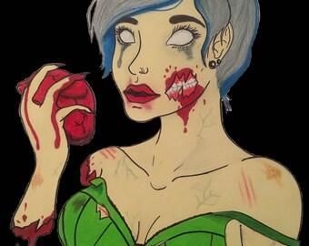 Zombie Babe original art Print