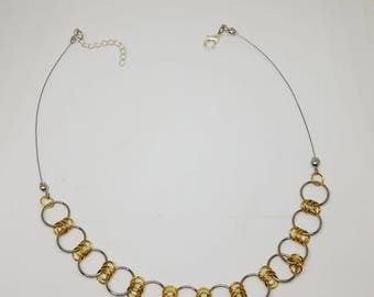 Gold & Silver Loose Choker Necklace