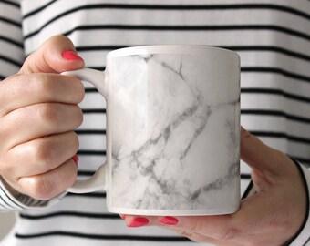 Marble Coffee Mug, Grey Mug, Marble Tea Mug, Marble Mug, Cute Coffee Mug, Grey Coffee Mug for Men, Grey Marble Tea Mug, Coffee Mug for Him