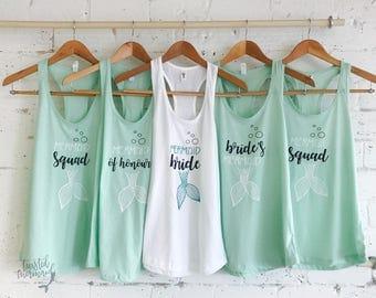 Mermaid Bride Shirts - Mermaid Bride Tank Top - Mermaid Wedding - Mermaid Bridal Party - Mermaid Squad - Mermaid Bachelorette - Bachelorette