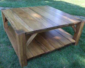 square farmhouse style coffee table 4u0027 x 4u0027 rustic table living room table country
