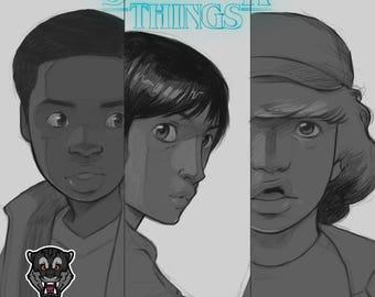 Stranger Things - Lucas, Mike, Dustin