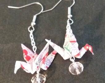 Red Origami Cranes