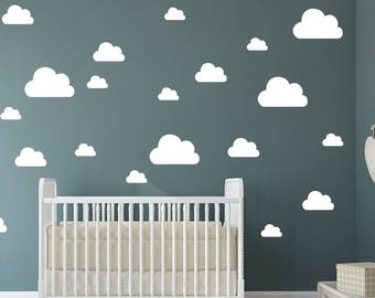 3 Size Cloud Wall Decal - Multisize Wall Sticker - Kids Nursery Decal Decor Wall Pattern | PP114a