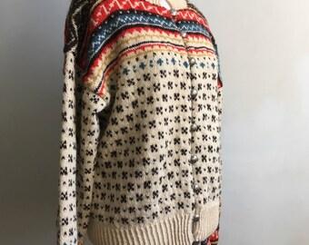 Vintage Handknit Norwegian Sweater