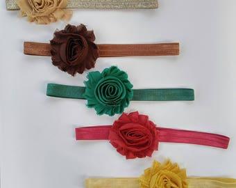 Shabby Rose Headbands | Infant Headband | Newborn Headband | Baptism Headband | Baby Shower gift