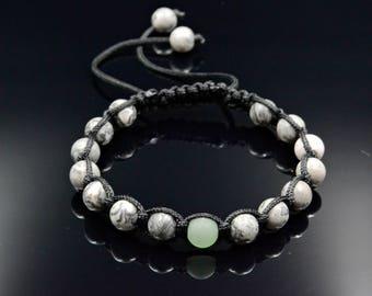 Gemstone Bracelet for Men Men's Bracelet Jasper Bracelet Beaded Bracelet Gift for Him Macrame Bracelet Shamballa Bracelet Gift for Men