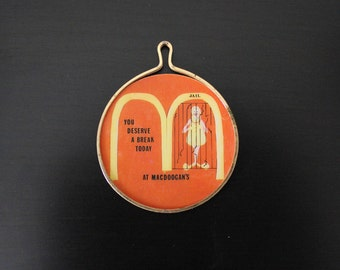 Vintage Parody Bootleg MACDOOGAN'S (McDonald's) Pendant