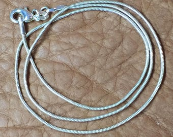 "18"" Sterling Silver Snake Chain"