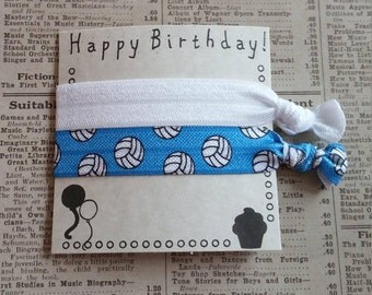 Volleyball Hair Ties, girls hair ties, hair accessories, hair tie favors, volleyball favors, sports hair ties, party favors, volleyball