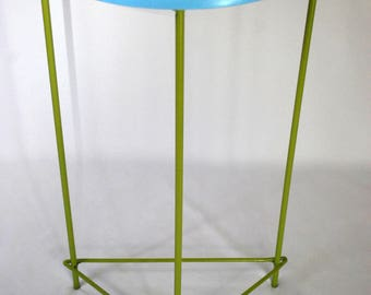 Blue & Green Plant Stand \ Side Table