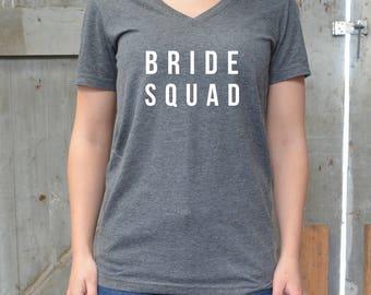 Bride Squad Shirt - Bride's Squad Shirts - Brides Squad- Bride Shirts Set - Bridesmaid Shirt - Bride Squad - Bride Tribe - Hen T-Shirts