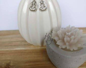 Earrings Buddha, earrings Buddha sitting, earrings Buddhism, yoga earrings